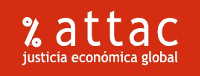 ATTAC. Justícia econòmica global. Logotip.