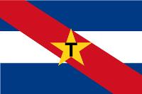 Bandera de los Tumpamaros. Por Walden69 - Muy común en Uruguay, vista en el FOTW y otros, Dominio público, https://commons.wikimedia.org/w/index.php?curid=1264934.