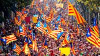 Cataluña. Manifestación.