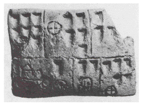 Pictographic tablet from Uruk.
