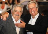 José Mujica y Tabaré Vázquez.