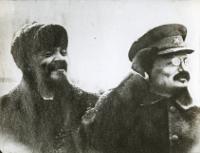 Lenin y Trotsky.