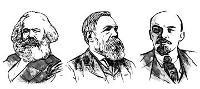 Marx, Engels i Lenin. Retrats.