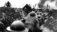 Soldats britànics en una trinxera de la Primera Guerra Mundial.