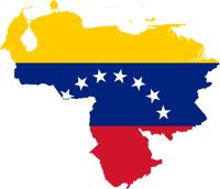 Venezuela. Mapa y bandera.